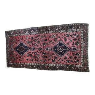 """Vintage Persian Hamedan Wool Rug - 3' 2"""" x 6' 2"""""""
