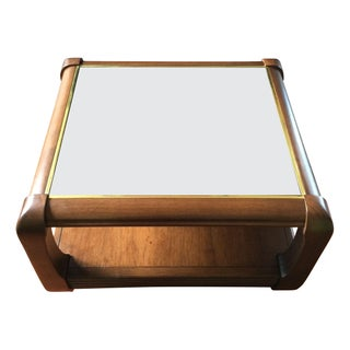 Smoked Mirror Side Table