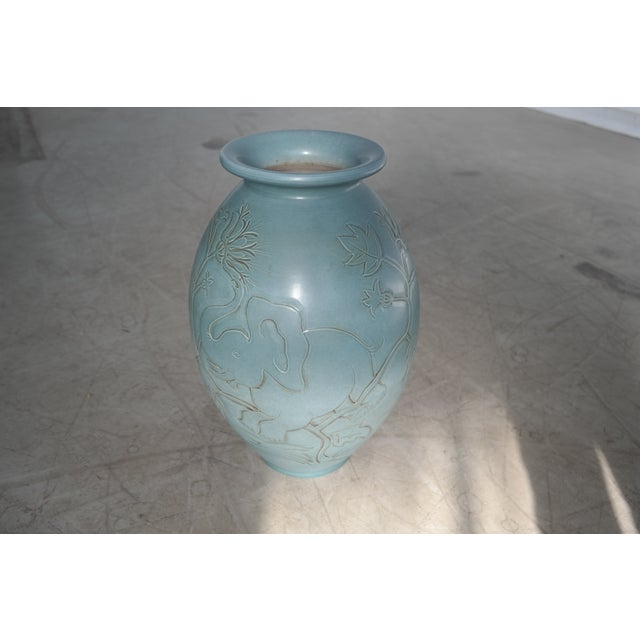 folmer gross for knabstrup danish modern ceramic vase chairish. Black Bedroom Furniture Sets. Home Design Ideas