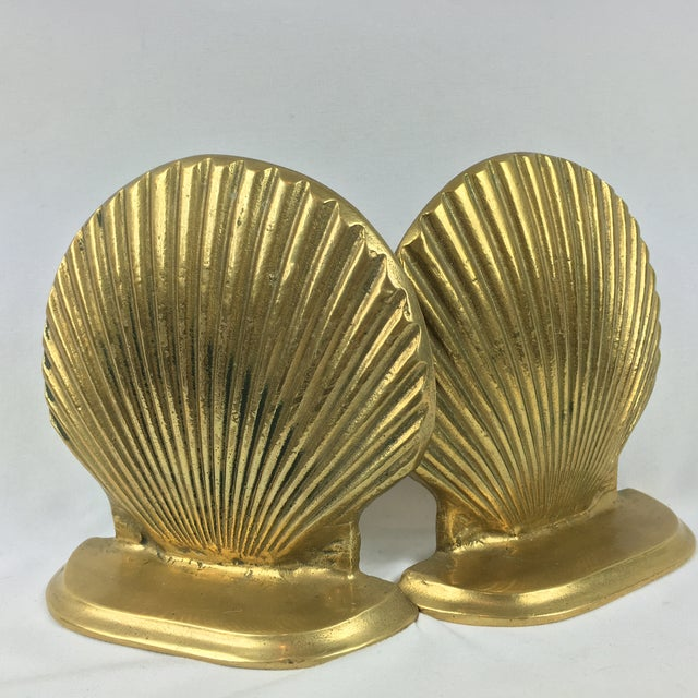 Mid-Century Brass Shell Bookends - A Pair - Image 6 of 7