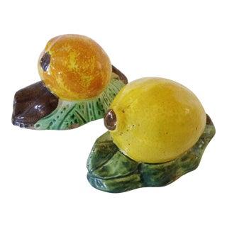 Italian Majolica Citrus - A Pair