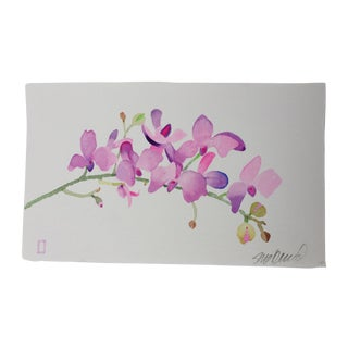 """""""Mulberry Orchid"""" Original Watercolor"""