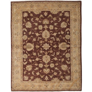 """Hand Knotted Oushak Area Rug - 5'3"""" X 6'8"""""""