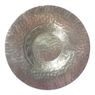Large Hammered Aluminum Fish Motif Platter