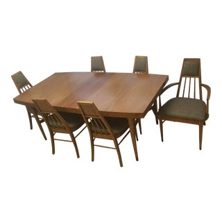 Mid-Century Modern Teak Dining Table and 8 Chairs