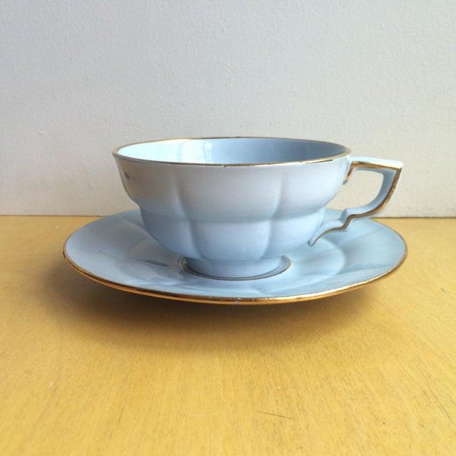 3-Piece Upsala Ekeby Cup & Saucer Set - Image 5 of 8