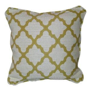 Robert Allen Geo Citrine Feather Pillow