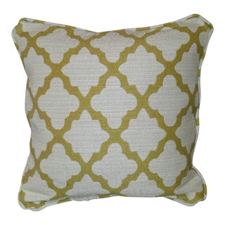 Robert Allen Geo Citrine Feather Pillow