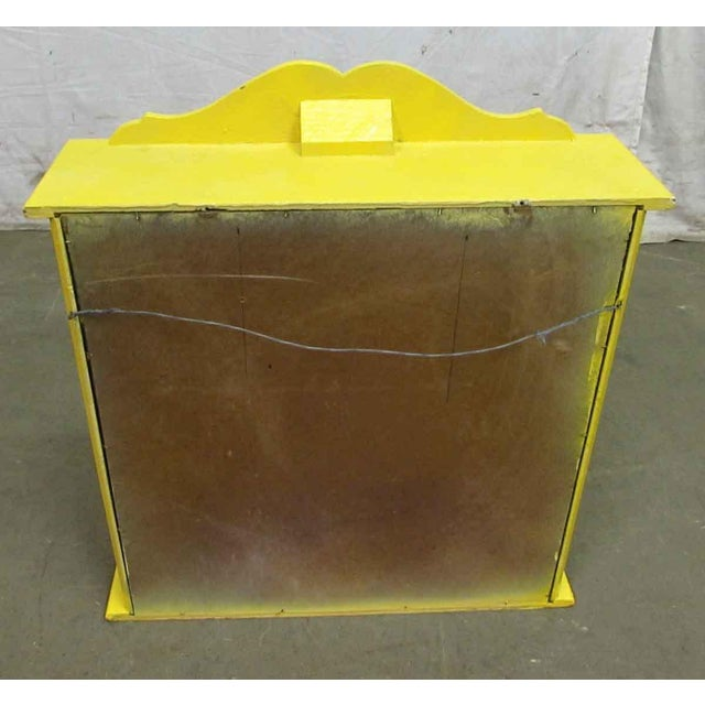 Yellow Painted Curio Cabinet - Image 5 of 8