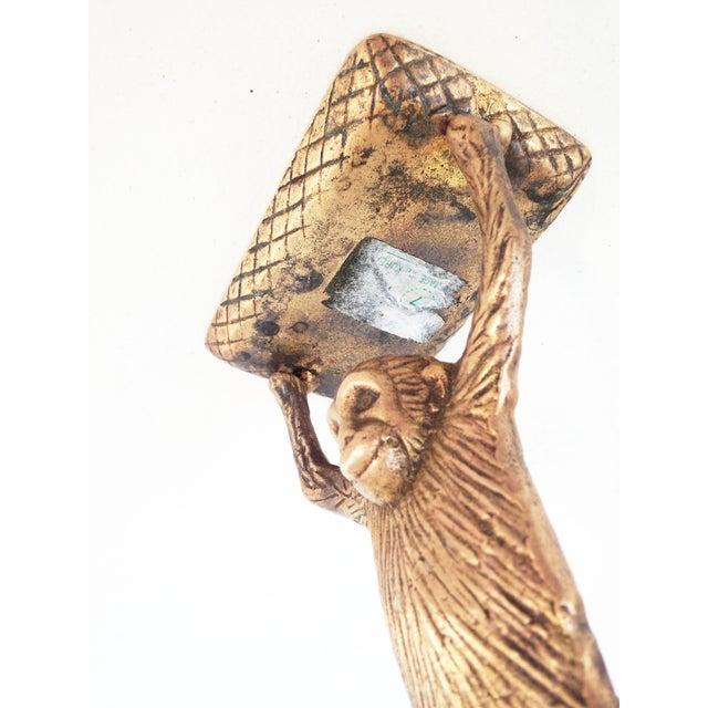 Image of Vintage Brass Monkey Business Card Holder