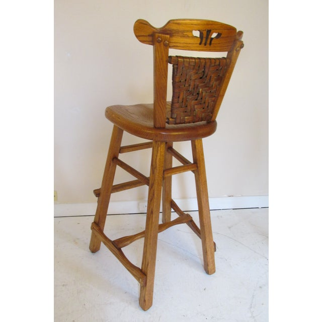Image of Old Hickory Vintage Bar Stools - Pair