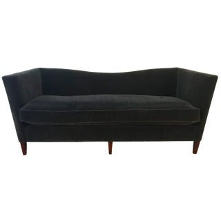 Dark Grey Mohair Custom Sofa