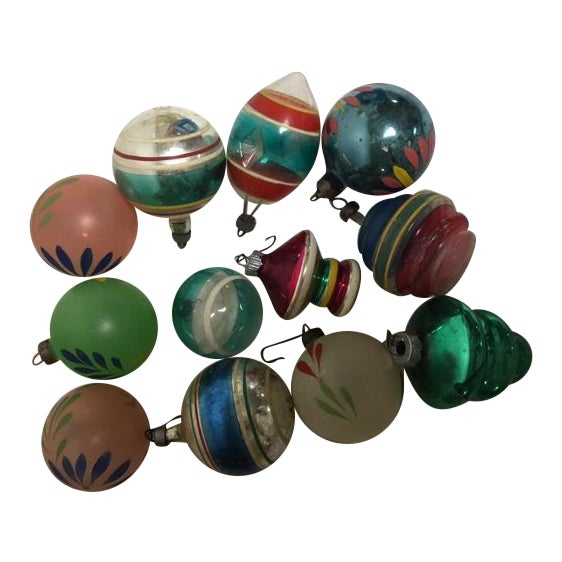 Vintage Assorted Glass Ornaments - Set of 12 - Image 1 of 6