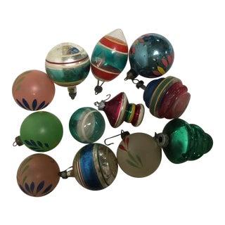 Vintage Assorted Glass Ornaments - Set of 12
