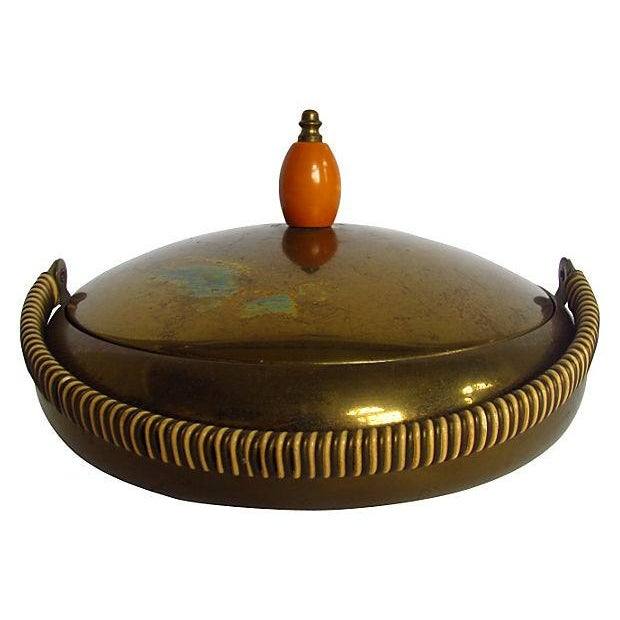 Image of Farber Bros. Solid Brass Candy Dish with Lid