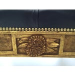 Image of Gold Leaf Leather Benches - A Pair