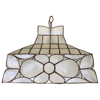 1960s Capiz Lantern Pendant