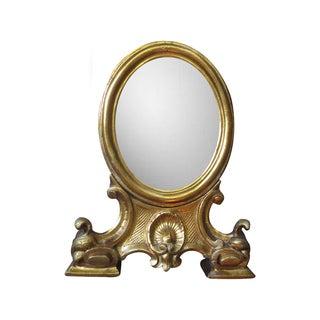 Vintage Gilt Italian Standing Vanity Mirror