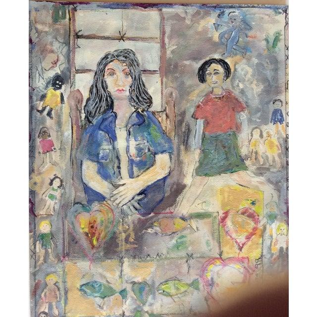 "Rosalyn Mesquita ""Dolls"" Mixed Media Painting - Image 2 of 3"