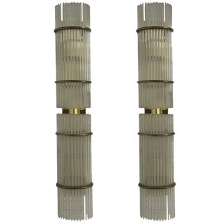 Italian Mid-Century Sconces with Glass Rods - A Pair