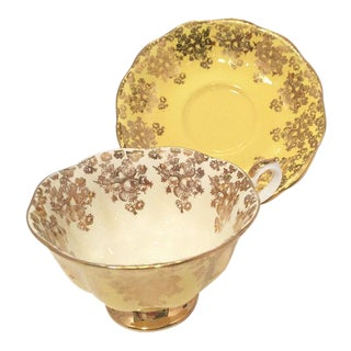 Royal Albert Yellow & Gold Teacup and Saucer