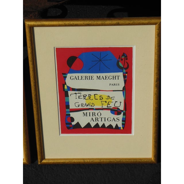 Joan Miro Vintage Framed Lithograph - Image 2 of 3