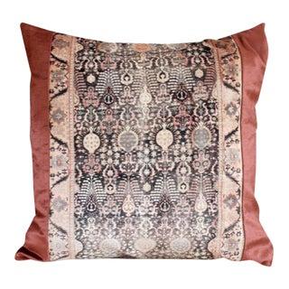 Blush Pink Velvet & Linen Pillow Cover