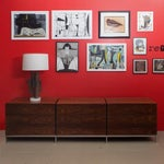 Image of Florence Knoll Rosewood Triple Chest of Drawers