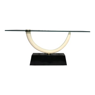 Modernist Faux Tusk Console Table