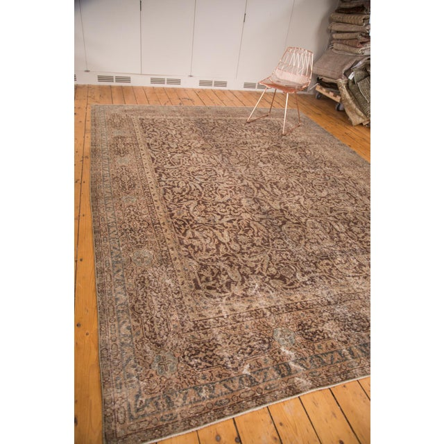 "Distressed Vintage Oushak Carpet - 8'8"" x 11'8"" - Image 4 of 7"