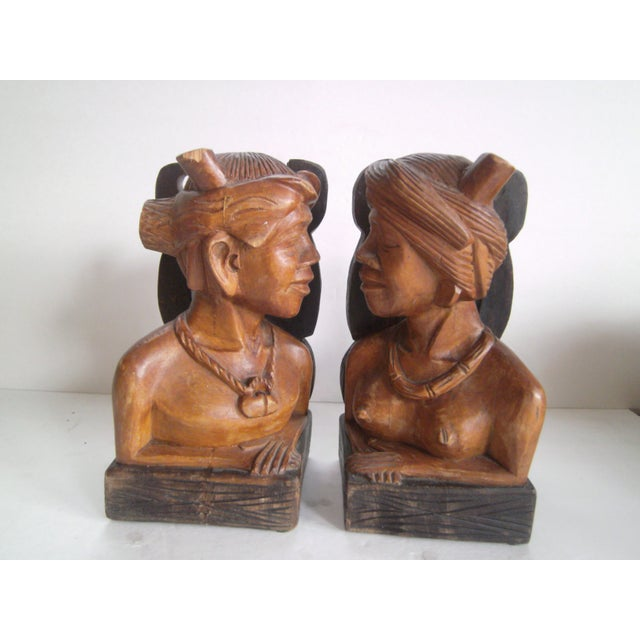 Hand Carved Wooden Bookends - Image 5 of 11