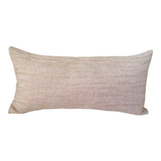 Metallic Blush Lumbar Pillow