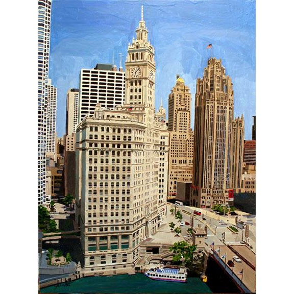 """Chicago's Splendor"" Giclee Print of the Painting - Image 2 of 2"