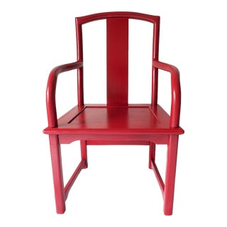 Chinese Red Painted Chair