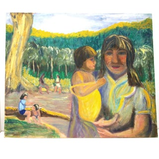 Children of the Amazon Vintage Oil Painting