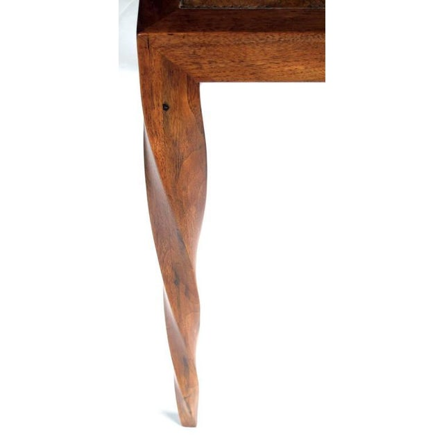 Rare American 1940s Square Game Table with Inset Leather Top by Johan Tapp - Image 3 of 4