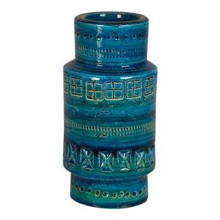 Bitossi Rimini Blue Ceramic Vase, Italy c.1965