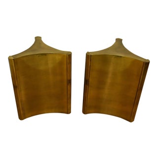 "Mastercraft ""Trilobi"" Brass Table Bases- a Pair"