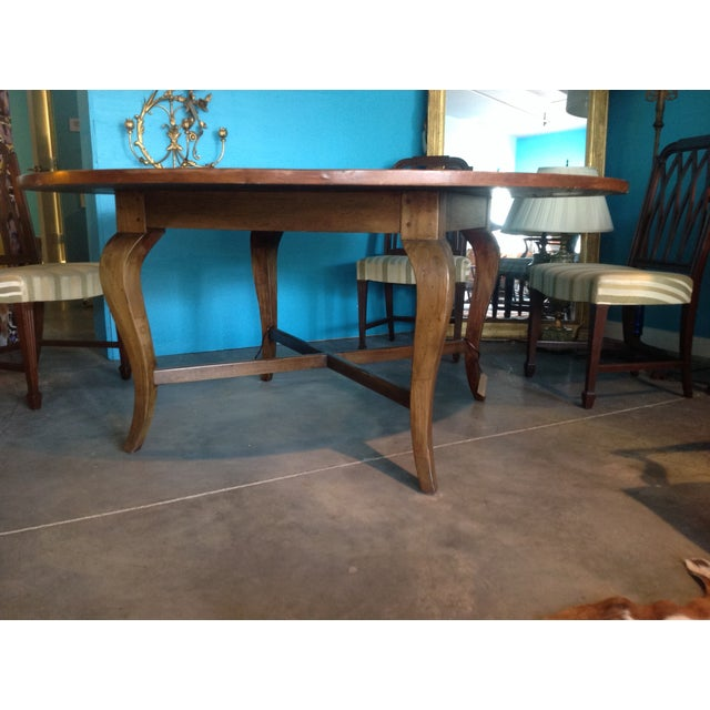 Antique Cherry Round Table - Image 2 of 6