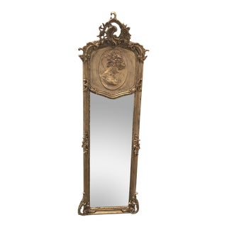Goddess Relief Gilded Floor Mirror