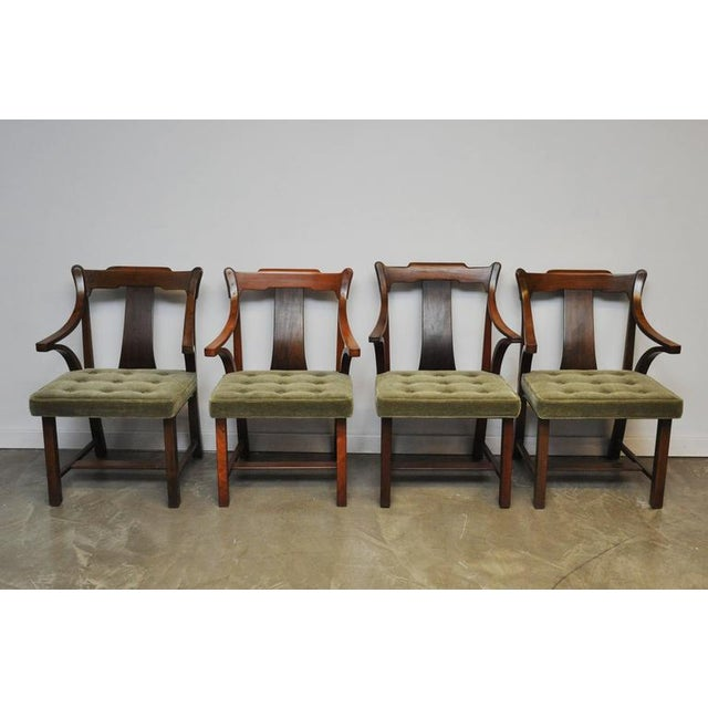 "Dunbar Set of Four ""Greene & Greene"" Chairs by Edward Wormley - Image 3 of 7"