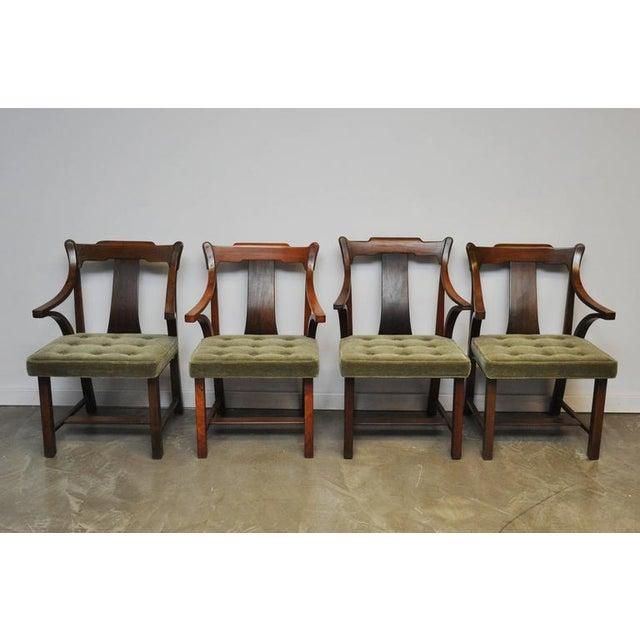 "Image of Dunbar Set of Four ""Greene & Greene"" Chairs by Edward Wormley"