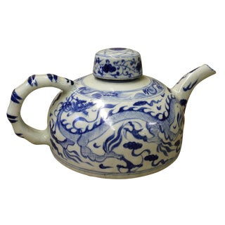 Chinese Blue & White Porcelain Teapot