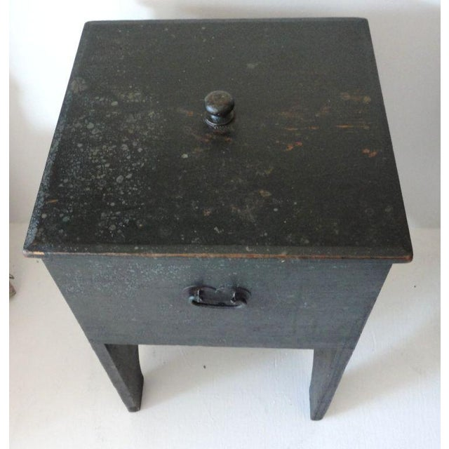 Fantastic 19th Century Original Painted Shaker Style Bin/Churn/Signed - Image 7 of 8