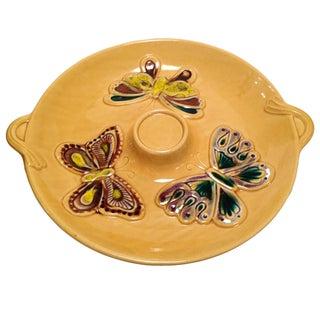 Mid Century Ceramic Butterfly Platter