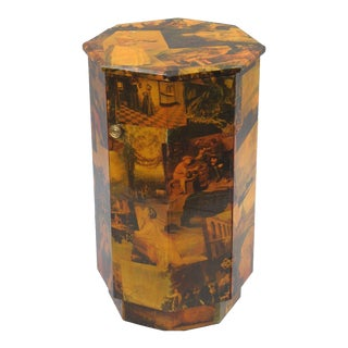 Decoupage Antique Victorian Collage Side Table