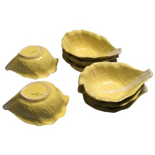 Cereal Bowls in Yellow Cabbage Leaf - Set of 8