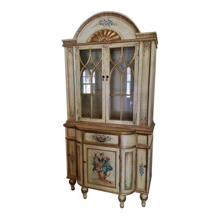 Hand Painted French Country Hutch
