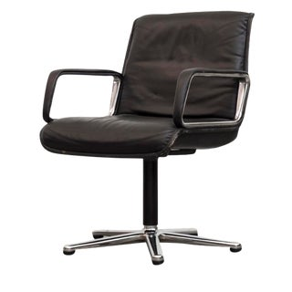 Artifort  Black Leather Office Armchair