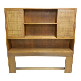 Danish Modern Queen Headboard With Built-In Bookshelf